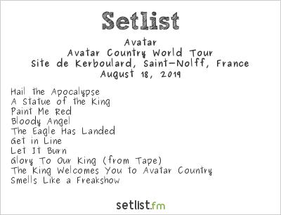Avatar Setlist Motocultor Festival 2019 2019, Avatar Country World Tour