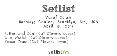 Cat Stevens Setlist Rock and Roll Hall of Fame Induction Ceremony #29 2014