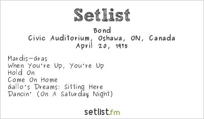 Bond Setlist Civic Auditorium, Oshawa, ON, Canada 1975