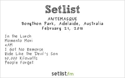 ANTEMASQUE Setlist Soundwave Adelaide 2015 2015