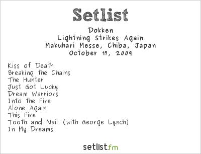 Dokken Setlist Loud Park 2009 2009, Lightning Strikes Again