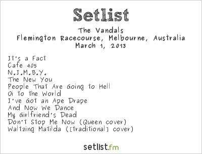 The Vandals Setlist Soundwave Melbourne 2013 2013