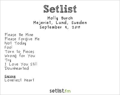 Molly Burch Setlist Mejeriet, Lund, Sweden 2017
