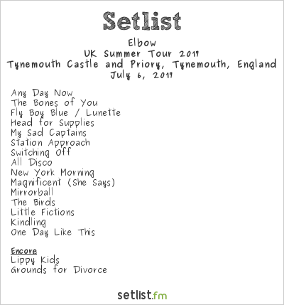 Elbow Setlist Mouth Of The Tyne Festival 2017 2017