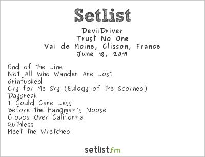 DevilDriver Setlist Hellfest 2017 2017