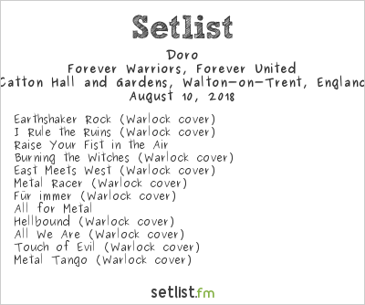 Doro Setlist Bloodstock Open Air 2018 2018, Forever Warriors, Forever United