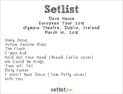Dave Hause Setlist Olympia Theatre, Dublin, Ireland, European Tour 2018