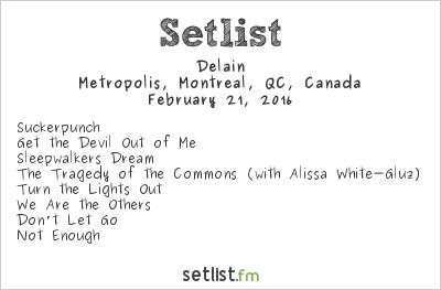 Delain Setlist Metropolis, Montreal, QC, Canada 2016