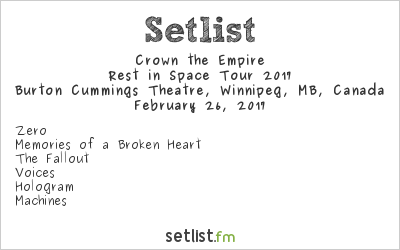 Crown The Empire Rest In Space Tour Setlist