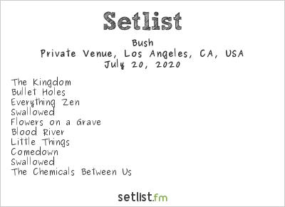 Bush Setlist Private Venue, Los Angeles, CA, USA 2020