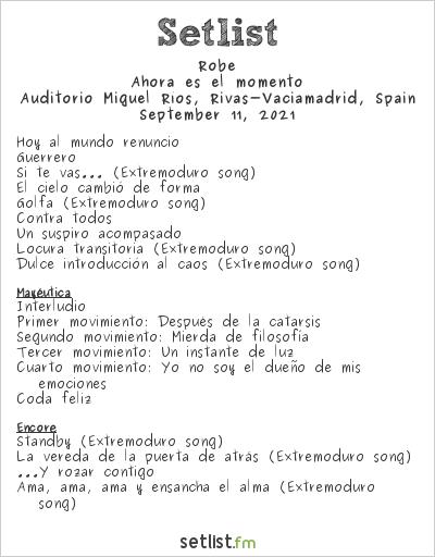 Roberto Iniesta Setlist Auditorio Miguel Ríos, Rivas-Vaciamadrid, Spain 2021