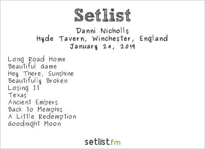 Danni Nicholls Setlist Hyde Tavern, Winchester, England 2019