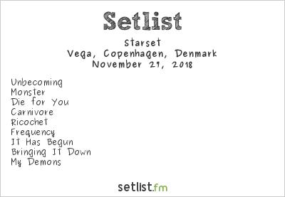 Starset Setlist Vega, Copenhagen, Denmark 2018