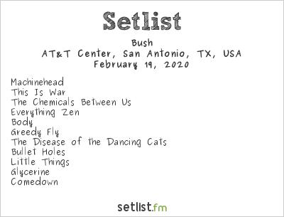 Bush Setlist San Antonio Stock Show & Rodeo 2020 2020