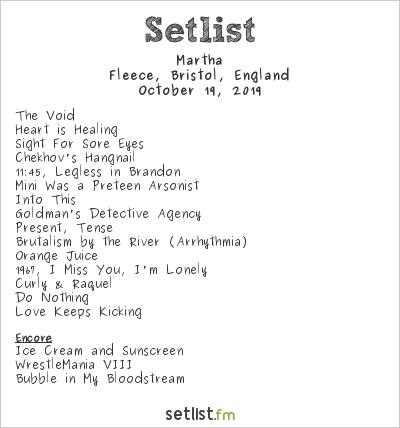 Martha Setlist Fleece, Bristol, England 2019