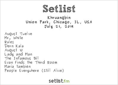 Khruangbin Setlist Pitchfork Music Festival 2019 2019