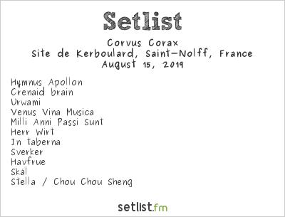 Corvus Corax Setlist Motocultor Festival 2019 2019