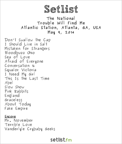 The National at Shaky Knees Music Festival 2014 Setlist