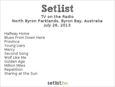 TV on the Radio Setlist Splendour In The Grass 2013 2013
