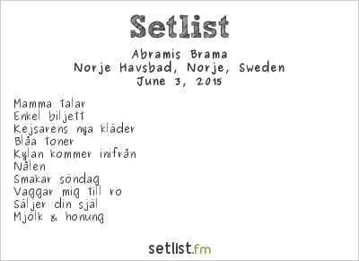 Abramis brama Setlist Sweden Rock Festival 2015 2015