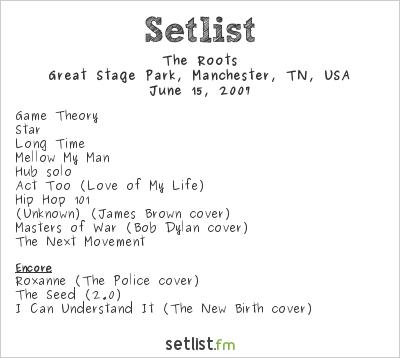 The Roots Setlist Bonnaroo 2007 2007