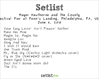 Mayer Hawthorne Setlist Festival Pier at Penn's Landing, Philadelphia, PA, USA, The Roots Picnic 2010