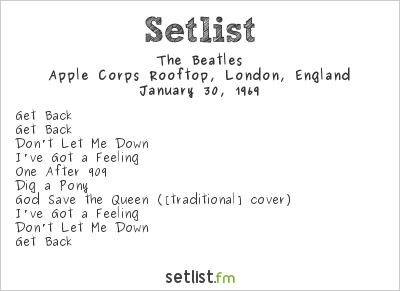 The Beatles Setlist Apple Corps Rooftop, London, England 1969