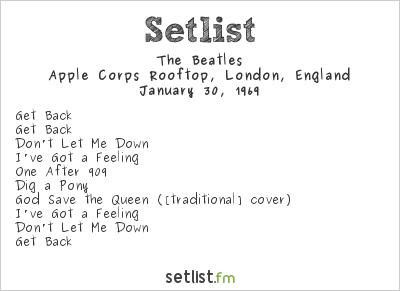 The Beatles Setlist Apple Corps Rooftop, London, England 1969