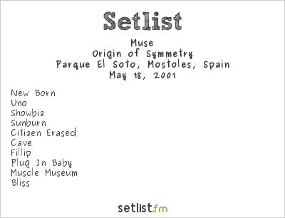 Muse Setlist Festimad, Madrid, Spain 2001, 2001 European Spring Tour