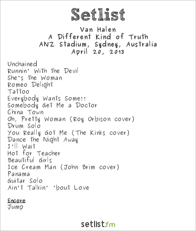 Van  Halen  Setlist Stone Music Festival 2013 2013