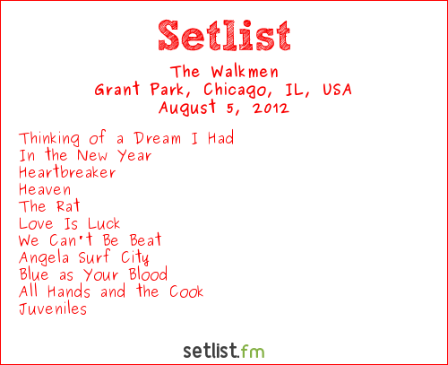 The Walkmen Setlist Lollapalooza 2012 2012