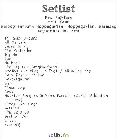 Foo Fighters Setlist Lollapalooza Berlin 2017 2017, Concrete and Gold Tour