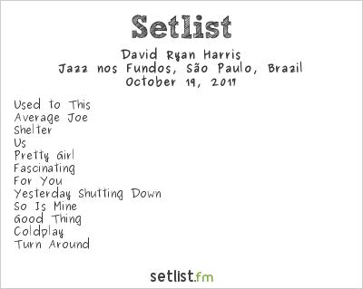 David Ryan Harris Setlist Jazz nos Fundos, São Paulo, Brazil 2017