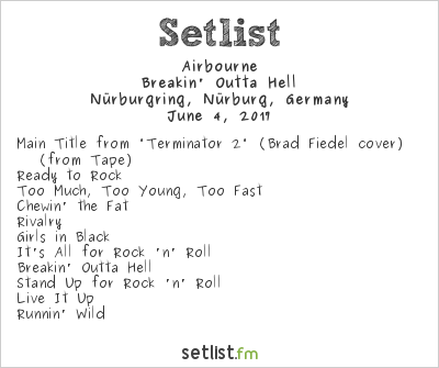 Airbourne Setlist Rock am Ring 2017 2017, Breakin' Outta Hell
