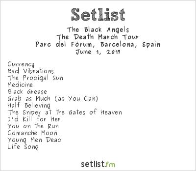 The Black Angels Setlist Primavera Sound 2017 2017, The Death March Tour