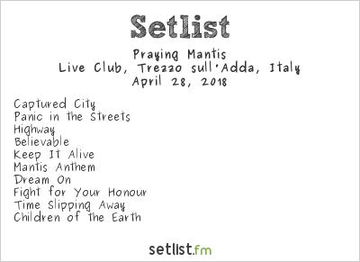 Praying Mantis Setlist Frontiers Rock Festival 2018 2018