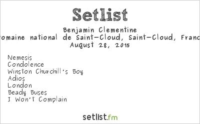 Benjamin Clementine Setlist Rock en Seine 2015 2015