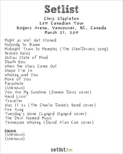 Chris Stapleton Setlist  Tour