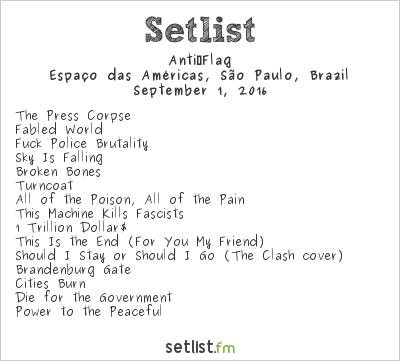 Anti‐Flag Setlist Rock Station 2016 2016