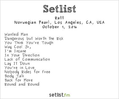 Ratt Setlist Monsters of Rock Cruise - West Coast 2016 2016