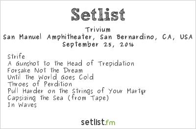 Trivium Setlist Ozzfest Meets Knotfest 2016 2016