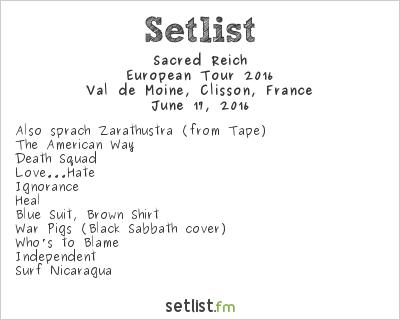 Sacred Reich Setlist Hellfest 2016 2016