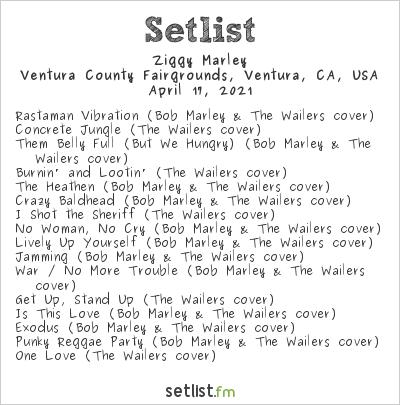 Ziggy Marley Setlist Ventura County Fairgrounds, Ventura, CA, USA 2021
