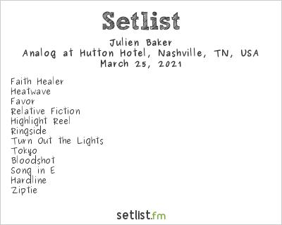 Julien Baker Setlist Analog at Hutton Hotel, Nashville, TN, USA 2021