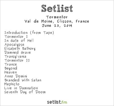 Tormentor Setlist Hellfest 2019 2019