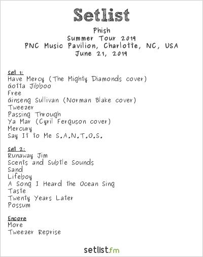Phish Brings Tweezer & Rare Treats To Charlotte's PNC Music