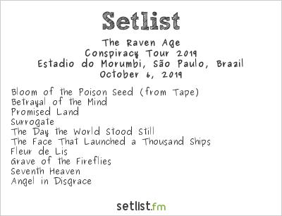 The Raven Age Setlist Estádio do Morumbi, São Paulo, Brazil, Conspiracy Tour 2019