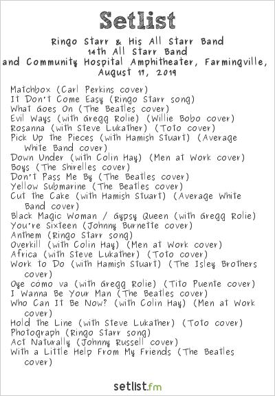 Ringo Starr & His All Starr Band Setlist Long Island Community Hospital Amphitheater, Farmingville, NY, USA 2019, 14th All Starr Band