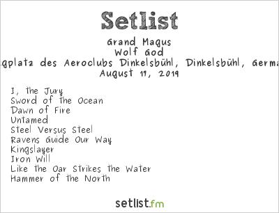 Grand Magus Setlist Summer Breeze 2019 2019, Wolf God