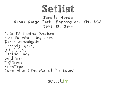 Janelle Monáe Setlist Bonnaroo 2014 2014